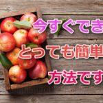 簡単バストアップ方法はりんごを食べる事~本当は秘密にしたい真実~